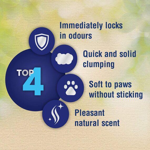 Catsan Natural Clumping Cat Litter, 100% Biodegradable, Extra Absorbent, 20 L