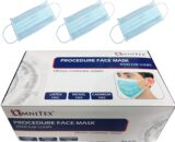 British Brand | Omnitex 50pk 3ply Premium Type II Disposable Surgical Face Mask | EN14683 98% Filtration Medical Grade Type 2 with Ear Loops