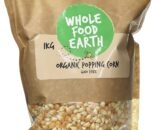 Wholefood Earth Organic Popping Corn Kernels 1 kg, GMO FREE