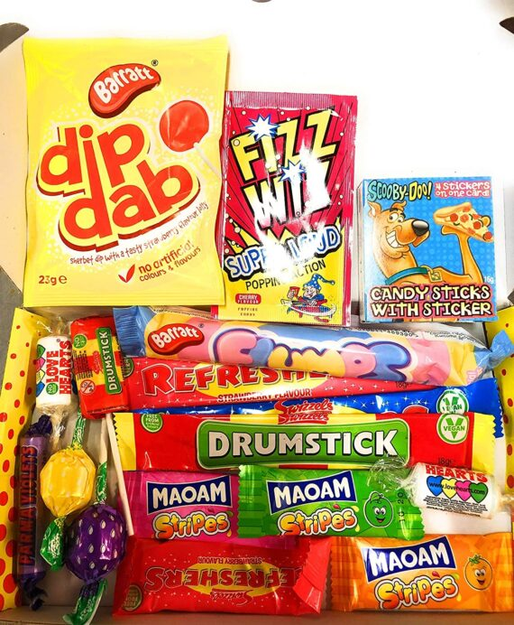Premier Letter Box Hamper Retro Sweets Old Fashion Sweets++Free DELIVERY +++Perfect Gift+++