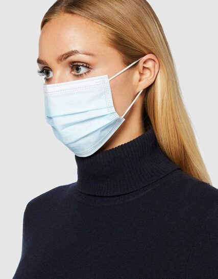 creek medical CE Approved and Tested 3-Layer Medical Surgical Mask Type I, Non-Sterile (Pack of 50 Masks)