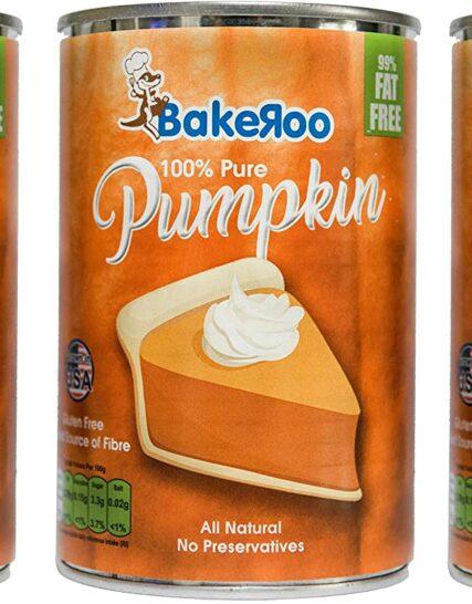 (Pack of 3) Bakeroo Tinned Pumpkin Puree (Pumpkin Pie Filling), 100% Natural - 425g