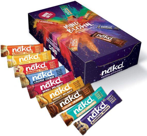 Nakd Mind Blown Fruit & Nut Bar Mixed Case - Vegan Bars - Gluten Free - Healthy Snack, 35 g (Pack of 18 Assorted)