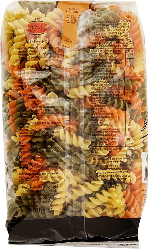 Garofalo Fusillli Tricolore Dry Pasta, 500g