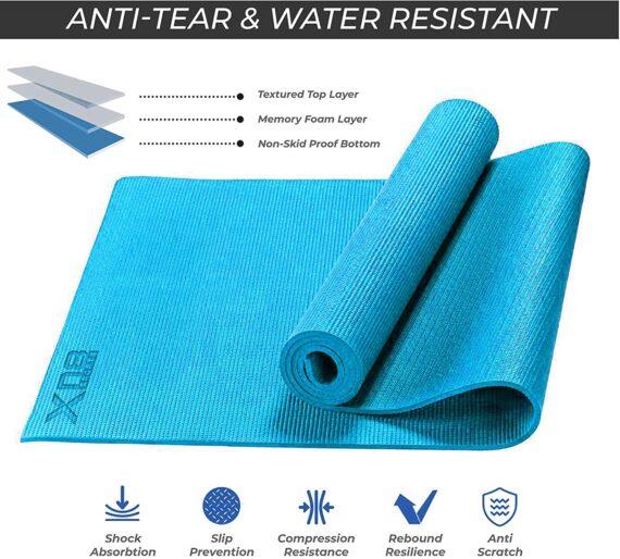 Xn8 Non Slip Exercise Yoga Mat-6mm-Thick-Carry-Bag-Pilates-Fitness