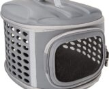 PET MAGASIN Hard Cover Collapsible Cat Carrier - Pet Travel Kennel with Top-Load & Foldable Feature for Cats, Small Dogs Puppies & Rabbits