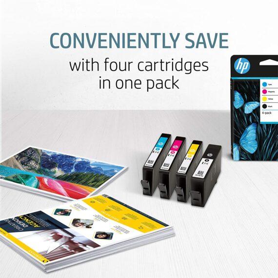 HP N9J73AE 364 Original Ink Cartridges, Black/Cyan/Magenta/Yellow, Multipack
