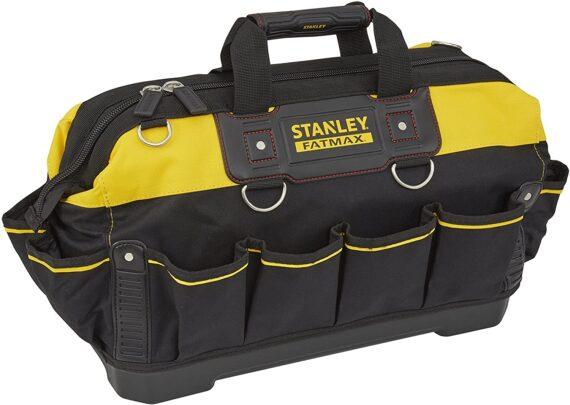STANLEY FATMAX Technician Tool Bag, Heavy Duty 600 Denier and Leather, Multifunctional Tool Storage Organiser, 18 Inch, 1-93-950