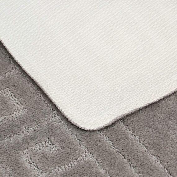 EDS New Greek Style 2 Piece Bath Mat Set Non-Slip 13 Colours (Grey)