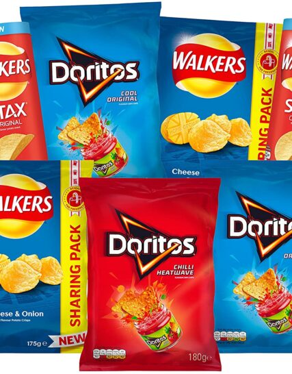 Walkers, Doritos and Stax Ultimate Party Essentials Snacks and Crisps Box (7 Sharing Bags)